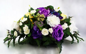 Silk flower table centerpiece wedding roses head white yellow purple image is loading silk flower table centerpiece wedding roses head white mightylinksfo