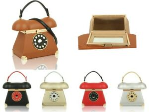 New-Womens-3D-Telephone-Shaped-Top-Handle-Handbag-Girls-Cute-Style-Shoulder-Bag