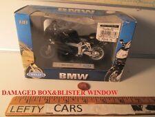 HONDA Black BMW K1 MOTORCYCLE Scale 1:18 (DAMAGED BOX&BLISTER WINDOW)