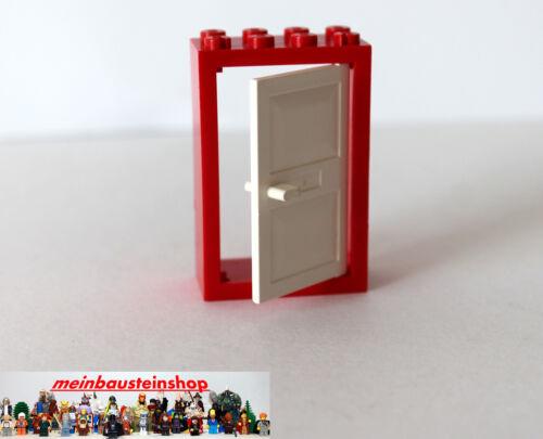 4131 Türrahmen 2X4X5 Rot mit Türblatt Weiß Door Frame Red White 1X Lego® 4130