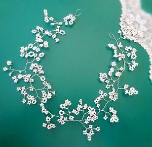 Wedding Hair Vine Sprigs baby/'s breath Gypsophila hairpieces boho bridesmaids x3