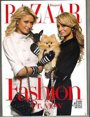 PARIS HILTON NICOLE RICHIE Harper's Bazaar Magazine 6/07 FASHION PREVIEW