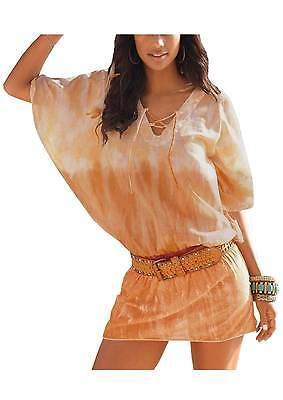 Tunika Bluse Buffalo Baumwolle orange batik look Gr. 36/38  40/42  44/46