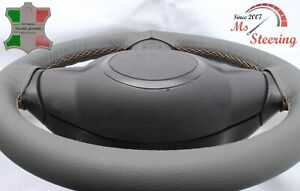 FOR LEXUS GX 03-10 GREY LEATHER STEERING WHEEL COVER, CLOSED EDGES, BEIGE STIT