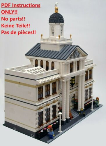 Building Instructions ONLY!! LEGO Courthouse Custom Creation