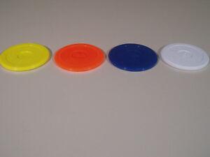 2 x 80 mm fluorescent air hockey palets dans différentes couleurs  </span>