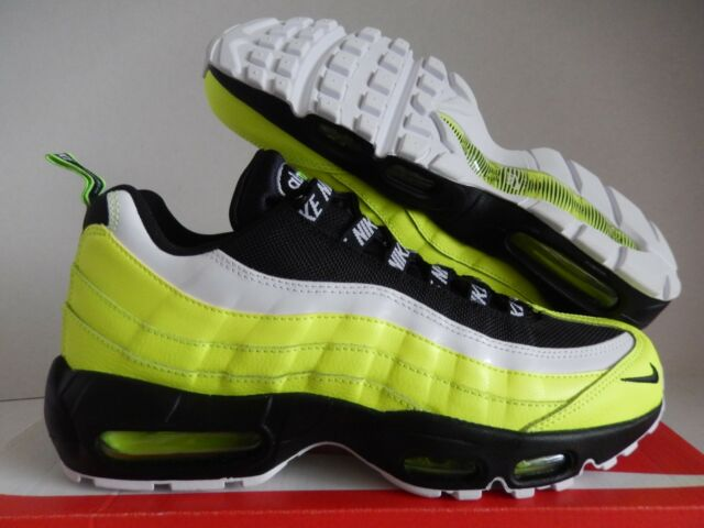 2a439350094 Nike Air Max 95 Premium Mens 538416-701 Volt Glow Black Running ...