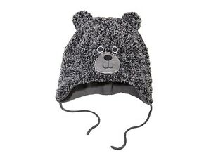 9d7e35954 Details about Baby Boy or Girl Winter Hat Grey Bear size: 2-24Months Hats  62/92 Soft & Warm