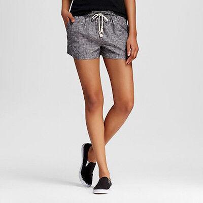 Mossimo Supply Co. Women's Linen Cotton Shorts, Gray, Size XXL, NWT