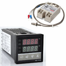 Lcd Pid Rex C100 Temperature Controller Ssr 40a K Thermocouple Heat Sink K0i9