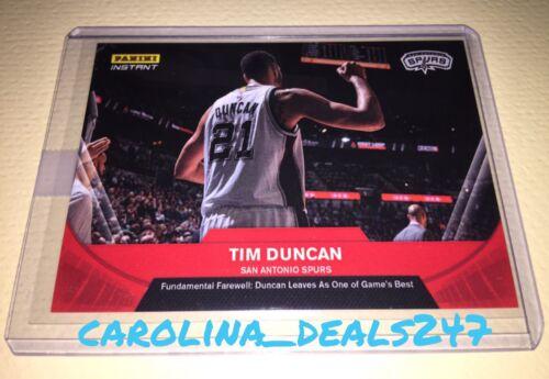 2016-2017 Panini Instant NBA TIM DUNCAN 1 de 112 rojo despedida jubilación Espuelas