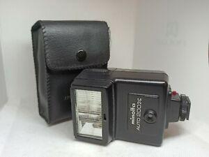 Flash pour appareil photo argentique Minolta Auto 200x Fonctionne parfaitement
