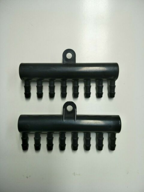 8 Barb end Manifold  (2 Pack) - Solar Pool Heating end Manifold's.