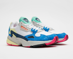official photos 3af25 87228 Image is loading ADIDAS-ORIGINALS-FALCON-SHOES-WHITE-BLUE-BB9174-US-