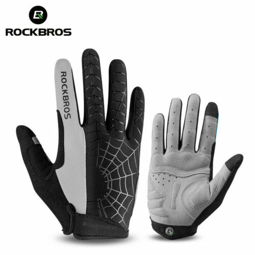 ROCKBROS Gel Pad Full Finger Sport Motorcycle Riding Cycling Touch Screen Gloves