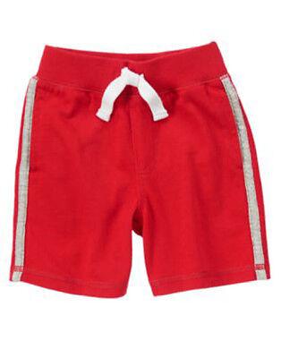 GYMBOREE HOME RUN KID RED RIB WAISTBAND KNIT SHORTS 3T 4T NWT
