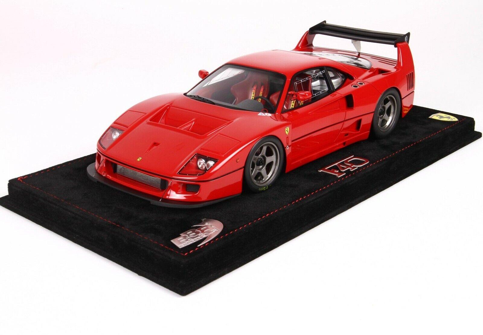 Ferrari F40 Lm en Rojo Coche de Modelo en 1 18 Escala de Bbr