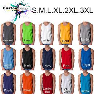 Blank-Plain-Basic-Tank-Top-Singlet-S-3XL-Small-Big-Men-039-s-Cotton-Premium-Quality