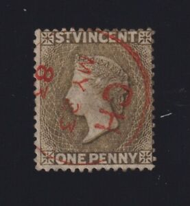 St. Vincent Sc #42 (1883) 1d drab Used w/red Chateaubelair Village Cancel