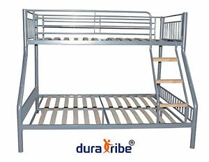 Duratribe Triple Sleeper Metal Bunk Bed Silver Colour En747 1