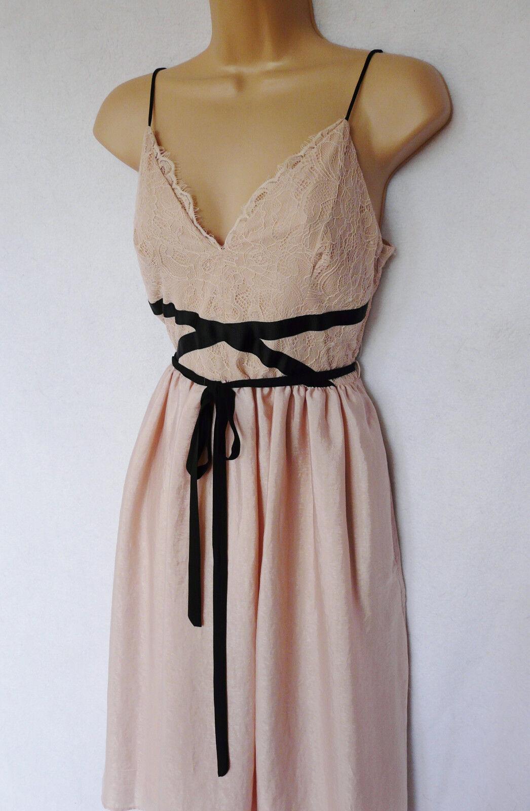 BNWT NEXT bluesh Vintage Pink Tie occasion wedding strappy lace babydoll dress
