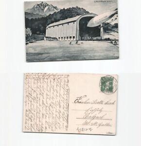 (n15054) Carte Postale Dirigeable Ville De Lucerne 1910 De Lucerne Après B-afficher Le Titre D'origine Emballage Fort