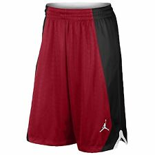 Jordan NIKE FLIGHT KNIT Basketball Shorts men LARGE NWT RED BLACK 820645