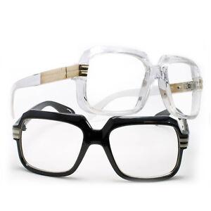 28a58b975f20 Clear Lens Fashion Glasses Run DMC Style Urban Hip Hop Retro DJ ...
