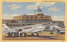 B77051  la guardia field new york  airport aviation scan front/back image