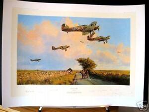 Glorious-Summer-Hawker-Hurricane-RAF-Aces-Robert-Taylor-Signed-Aviation-Art