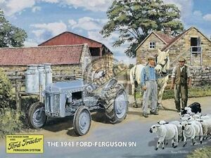 Ford-Ferguson-9N-1941-Trattore-Grande-Insegna-Acciaio-400mm-x-300mm-Og