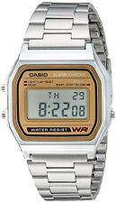 Casio Men's Casual Silver Metal Classic Digital Bracelet Watch A158WEA-9CF