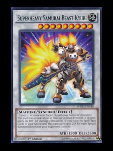 Superheavy Samurai Beast Kyubi BOSH-EN048 Rare M//NM Condition YUGIOH Card