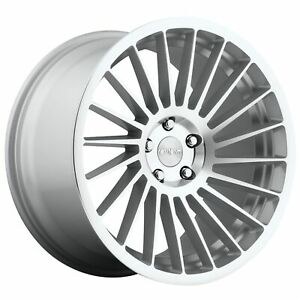 1-x-Rotiform-IND-T-Machined-Silver-Alloy-Wheel-RH-19x8-5-5x112-ET45-66-56mm-CB