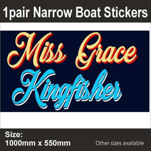 CanalNarrow BoatPERSONALISED BOAT NAMEVinyl Sticker GraphicBB217