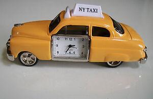 Elegant-Designer-style-NEW-YORK-TAXI-Mini-collectible-Desk-Clock-With-Box
