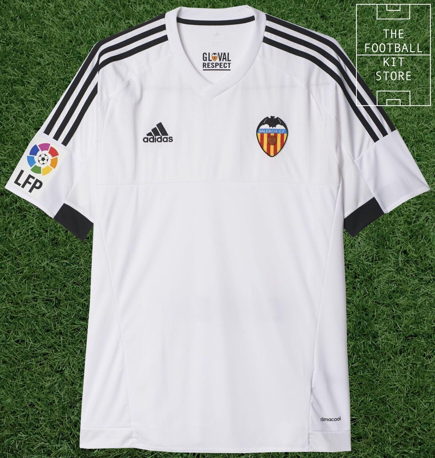Valencia Home Shirt - Official Adidas Football Jersey - Mens