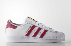 Detalles de Sneakers B23644 Zapatillas Adidas Superstar Blanca y rosa Mujer