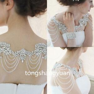 Luxury-Wedding-Jackets-Shawl-Rhinestone-Beading-Elegant-Bridal-Bolero-Custom-New