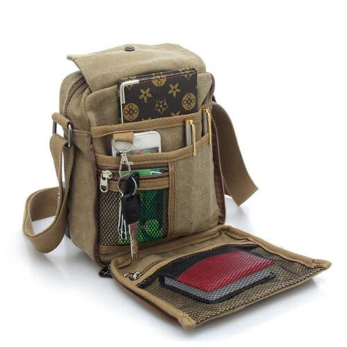 Men/'s Womes Canvas Handbag Shoulder Bag Crossbody Messenger Travel Leisure Bags