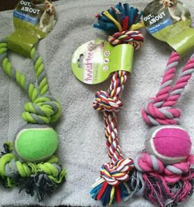 Happy-pet-Tennis-Ball-Tugger-amp-3-Knot-Tugger