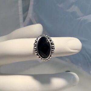 SOLD-OUT-LAGOS-STERLING-SILVER-MAYA-ONYX-RINS-SIZE-7