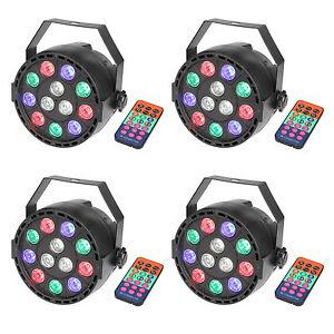 Par Uplighting DMX Led Stand DJ RGB Color Wash Wedding Light with Remote 4 Pack