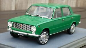 Raro-ist-1-18-Fiat-124-1966-Vaz-Lada-2101-Verde-Coche-Modelo-de-juguete-de-placa-Torino