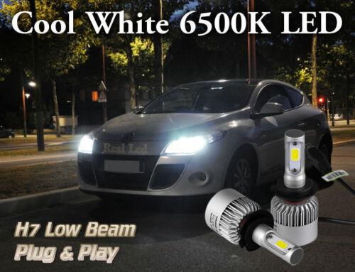 2x Bulbs H7 LED 72W 6500K White Headlight Low Beam Renault Megane MK3 2008-2016