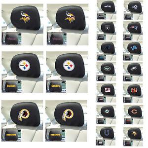 New-NFL-Pick-Your-Teams-Automotive-Gear-Car-Truck-Headrest-Covers-2pc-Set