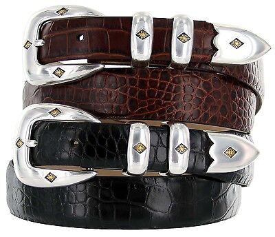 Tuscon Gold -  Genuine Leather Italian Calfskin Designer Dress Belt