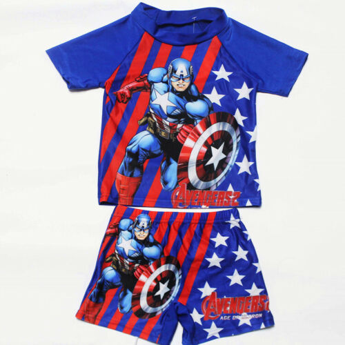 BOYS GIRLS KIDS CHARACTER SUN SAFE SWIMSUIT SWIMWEAR SURF SUIT WITH SHORTS