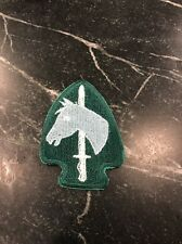 "Vietnam Cold War Era Patch Calvary Sword Horse Arrowhead Green 2.5"" Rare Vtg 80s"