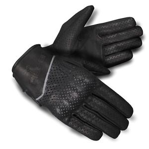 Vented-Motorbike-Motorcycle-Leather-Short-Gloves-Natural-Cowhide-premium-A-Grade